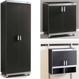 Metal Garage Cabinets | Floor & Wall Storage Cabinet Systems