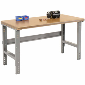 "72""W X 30""D Shop Top Safety Edge - Adjustable Height - 1 3/4"" Top - Gray"