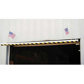 "Economy PVC Overhead Door Warning Barrier, 120""L"