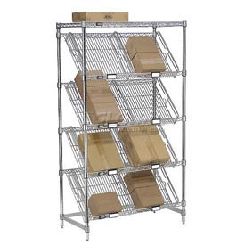 Slant Chrome Wire Shelving