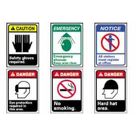 ANSI Danger, Caution And Notice High Visibility Graphic Signs