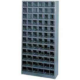 Steel Storage Bin Cabinet 36x12x39, 16 Compartments