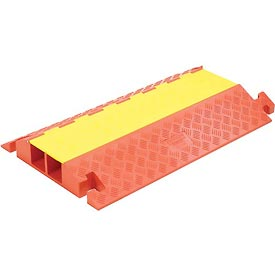 "2-Channel Heavy Duty Cable Guard, 36""L x 22""W x 4-1/8""H, Yellow/Orange"