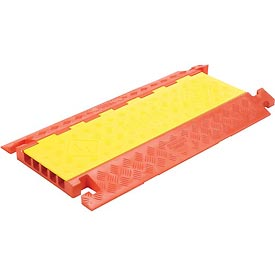 "3-Channel Heavy Duty Cable Guard, 36""L x 20""W x 3""H, Yellow/Orange"