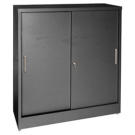 Sliding Door Storage Counter Height Cabinets
