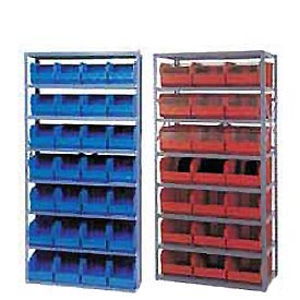 7 Opening Steel Shelving With Premium Plastic Stacking Bins