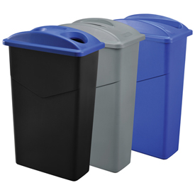 Global™ Slim Trash Containers
