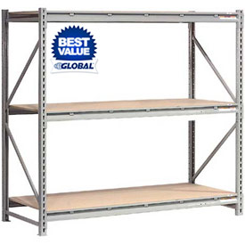 Global - Extra High Capacity Metal Bulk Storage Rack With Wood Deck