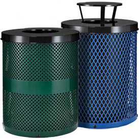 Global™ Steel Thermoplastic Coated Receptacles