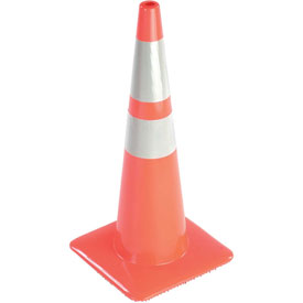 "28"" Traffic Cone, Reflective, Orange, 5 lbs, 2825-5MM"