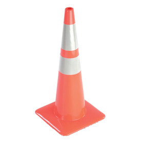 "36"" Traffic Cone W/ Custom Imprinting, Reflective, Orange, 10lbs, 3650-08-MM-L - Pkg Qty 50"