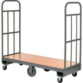 Best Value Wood Deck Narrow Aisle High End U-Boat Platform Truck 60 x 16 1500 Lb. Capacity