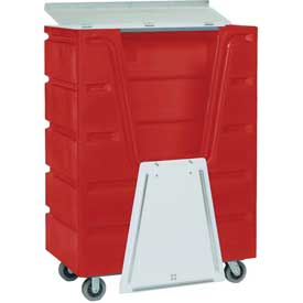 Dandux Red Hopper Front Security Bulk Truck 51-2460SR 48 Cu. Ft.