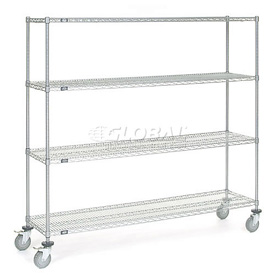 Nexelate Wire Shelf Truck 72x18x69 1200 Pound Capacity