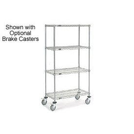 Nexelate Wire Shelf Truck 36x24x69 1200 Pound Capacity