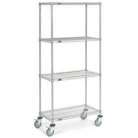 Nexel® Chrome Wire Shelf Truck 36x18x80 1200 Pound Capacity