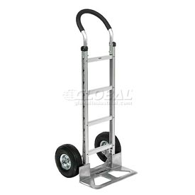 Global Aluminum Hand Truck - Curved Handle - Pneumatic Wheels