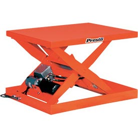 PrestoLifts™ Powered Scissor Lift Table XS36-15F Foot Control 1500 Lb.