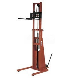 PrestoLifts™ Battery Power Straddle Stacker PST2107 Fixed Legs 2000 Lb.