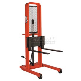 PrestoLifts™ Hydraulic Stacker Lift Truck M466 1000 Lb. with Adj. Forks