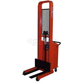 "PrestoLifts™ Pacemaker Battery Powered Lift Stacker B652-1500 1500 Lb. Adjustable 25"" Forks"