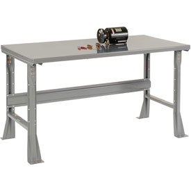 "72""W X 30""D X 34""H Steel Square Edge Workbench - Gray"