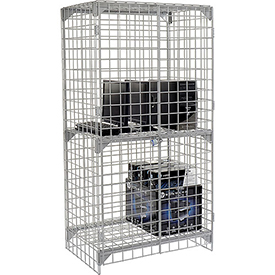Wire Mesh Security Cage - Ventilated Locker -  36 x 24 x 72