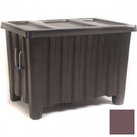 """Myton Forkliftable Bulk Shipping Container MTE-2L with Lid - 41""""L x 28""""W x 26-1/2""""H, Brown"""