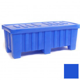 "Myton Forkliftable Bulk Shipping Container MTO-2 with Lid - 51-1/2""L x 22-1/2""W x 19""H, Blue"