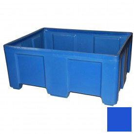 "Myton Forkliftable Bulk Shipping Container SO-5038-2 No Lid - 49-1/2""L x 37-1/2""W x 21-1/2""H, Blue"