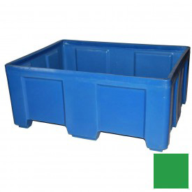 "Myton Forkliftable Bulk Shipping Container SO-5038-2 No Lid - 49-1/2""L x 37-1/2""W x 21-1/2""H, Green"