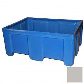 """Myton Forkliftable Bulk Shipping Container SO-5038-2 No Lid - 49-1/2""""L x 37-1/2""""W x 21-1/2""""H, Gray"""