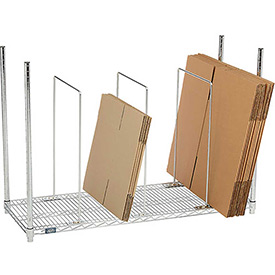Single Level Carton Stand With 3 Dividers
