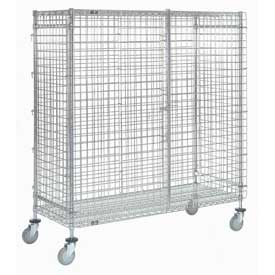 Nexel® Wire Security Storage Truck 48 x 24 x 69 1200 Lb. Capacity