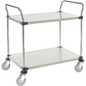 Nexel® Stainless Steel Utility Cart 2 Shelves 36x18