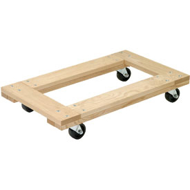Akro-Mils® RD2416F-4P Premium Hardwood Dolly Open Deck 1200 Lb. Capacity
