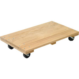 Akro-Mils® RD2416S4P Premium Hardwood Dolly Solid Deck 1200 Lb. Capacity