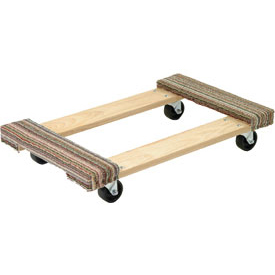 Akro-Mils® RD3624CE3R Premium Hardwood Dolly Carpeted Ends 900 Lb. Capacity