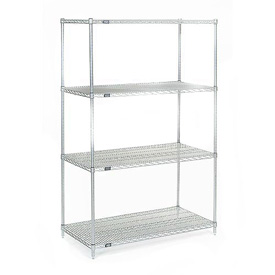 "86""H Nexel Chrome Wire Shelving - 48""W X 30""D"