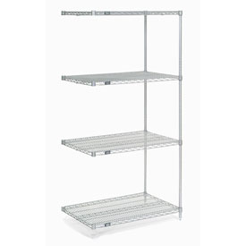 "74""H Nexel Chrome Wire Shelving Add-On - 48""W X 36""D"