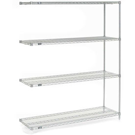 "86""H Nexel Chrome Wire Shelving Add-On - 48""W X 14""D"