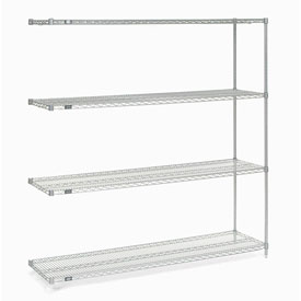 "86""H Nexel Chrome Wire Shelving Add-On - 60""W X 14""D"