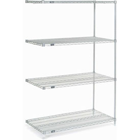 "86""H Nexel Chrome Wire Shelving Add-On - 72""W X 36""D"