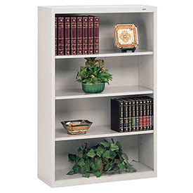 "Welded Steel Bookcase 52""H - Light Gray"