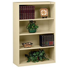 "Welded Steel Bookcase 52""H - Sand"