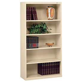"Welded Steel Bookcase 66""H - Putty"