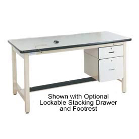 60 X 30 Adjustable Leg Heavy Duty Anti-Static Top Workbench - Beige