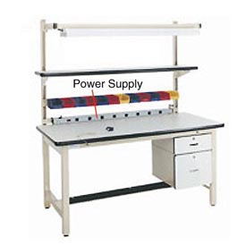 "72"" L Power Supply with Mounting Rail Blue by"
