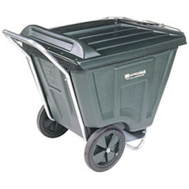 Akro-Mils® 76461 Low Profile Green 60 Gallon Tilt Cart With Lid