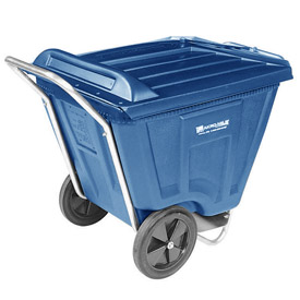 Akro-Mils® 76491 Low Profile Blue 90 Gallon Tilt Cart With Lid
